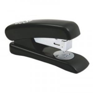 Rapesco Eco Stapler Recycled ABS Casing Half Strip No.s 24/6 26/6 Black Ref 1084