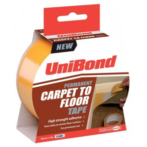 UniBond Carpet To Floor Tape Permanent 50mmx10m Code 1667748
