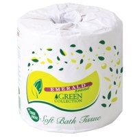 Emerald Bagasse Toilet Tissue 2Ply 500 Sheets Per Roll Case 96