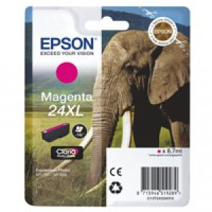 Epson 24XL Elephant Claria Photo HD Ink Magenta T2433