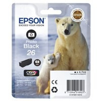 Epson 26 Ink Cart Photo Black T26114010