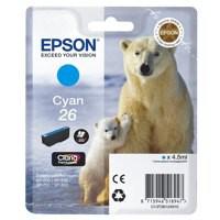 Epson 26 Ink Cart Cyan T26124010