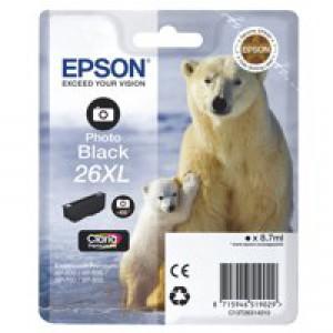 Epson 26XL Ink Cart PhotoBlack T26314010