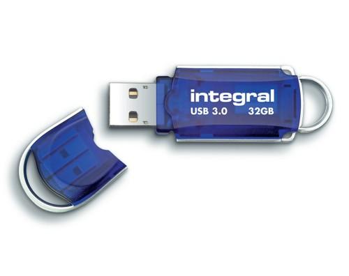 Integral Courier USB 3.0 Flash Drive Blue 32GB Ref INFD32GBCOU3.0