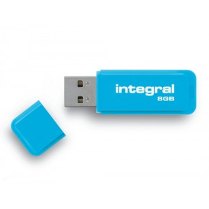Integral Neon Flash Drive USB 2.0 8GB Blue Ref INFD8GBNEONB