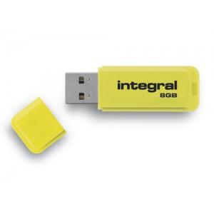 Integral Neon Flash Drive USB 2.0 8GB Yellow Ref INFD8GBNEONYL