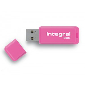 Integral Neon Flash Drive USB 2.0 8GB Pink Ref INFD8GBNEONPK