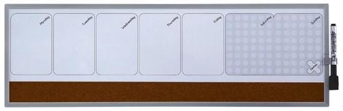 Nobo Quartet Magnetic Weekly Organiser 585x190mm Code 1903780