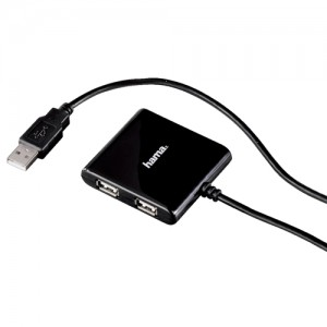 Hama USB 2.0 4-port Hub Black Code 00039873