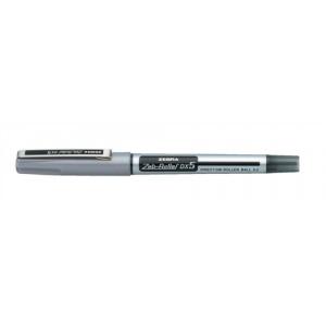Zebra DX5 Rollerball Liquid Ink Pen Fine Needle Point Black Ref 16071 [Pack 10]