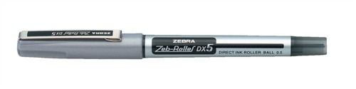 Zebra DX5 Rollerball Liquid Ink Pen Fine Needle Point Black Ref 16071 [Pack 10]