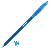 Zebra Z-grip Gel Stick Pen Medium Blue Ref 27092 [Pack 12]