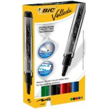 Bic Velleda Whiteboard Marker Liquid Ink Tank Assorted Pack 4 Code 902099