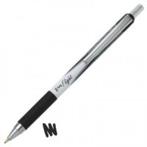 Zebra Z-Grip Flight Ball Pen Medium Black Ref 13301 [Pack 12]