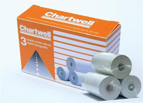 Chartwell Digital Tachograph Roll 57mmx8m Ref DPROLLZ [Pack 3]
