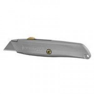 Stanley Retractable Blade Knife Original Die-cast Metal Body and 5 Assorted Blades Code 2-10-099