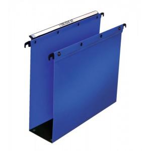 Elba Suspension File Polypropylene 80mm Foolscap Blue Ref 100330417 [Pack 25]