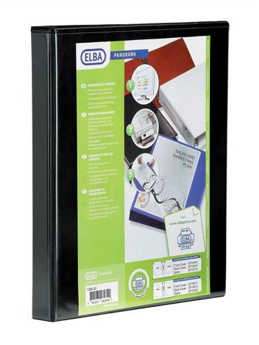 Elba A4 Pano Ring Binder 4 O-Ring 16mm Black Code 400020317