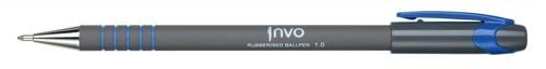 Ball Pen Rubberised Barrel 1.0mm Line 0.5mm Blue Ref KA3095Blu [Pack 12]