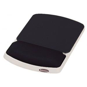Fellowes Gel Mouse Wrist Rest & Mouse Mat Black Code 93741