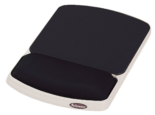Fellowes Premium Gel Mousepad Wrist Support Graphite Ref 91741