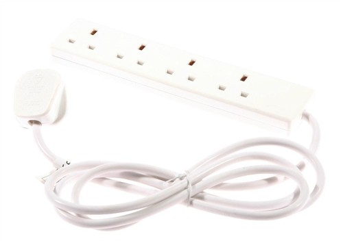 4 Way 13 amp Trailing Socket 2m