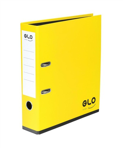 GLO Lever Arch File 70mm Spine A4 Lemon [Pack 3]