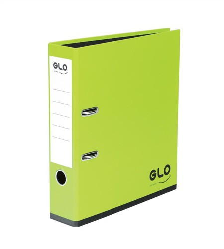 GLO Lever Arch File 70mm Spine A4 Green [Pack 3]