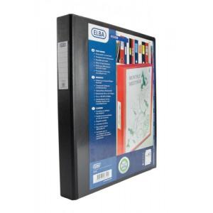 Elba Vision Ring Binder PVC Front Pocket 2 O-Ring A3 Portrait Black Ref 400009729 [Pack 2]
