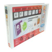 Elba Presentation Ring Binder PVC 4 D-Ring 40mm Capacity A4 White Ref 400008419 [Pack 6]