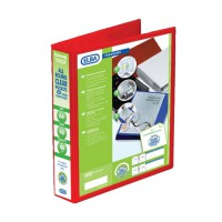 Image for Elba Presentation Ring Binder PVC 4 D-Ring 40mm Capacity A4 Red Ref 400008507 [Pack 6]