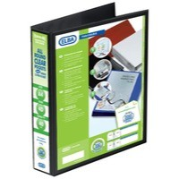 Elba Presentation Ring Binder PVC 4 D-Ring 40mm Capacity A4 Black Ref 400008417 [Pack 6]