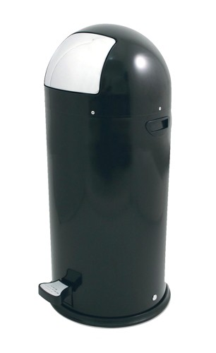 Bullet Shape Round Pedal Operated Bin Black 52 Litre Code SPCCAN05BLK