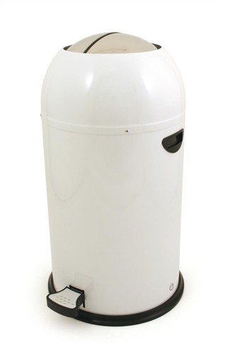 Bullet Shape Round Pedal Operated Bin White 33 Litre Code SPCCAN09WHT