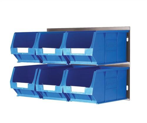 Barton Bin Kit Louvred Panel and 6 x TC3 Bins Blue Code 010095GB