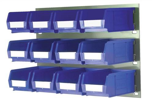 Barton Bin Kit Louvred Panel and 12 x TC2 Bins Blue Code 010096GB