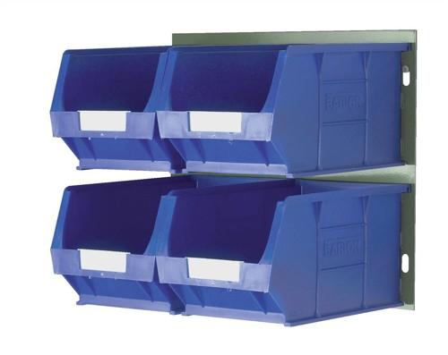 Barton Bin Kit Louvred Panel and 4 x TC4 Bins Blue Code 010097GB
