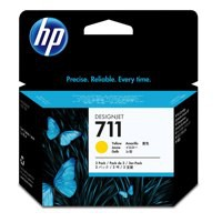 HP No.711 Inkjet Cartridge 29ml Yellow 3 Pack Code CZ136A