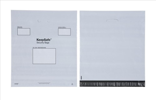 Keepsafe Easy Carry Handle Bags Polythene Recyclable 460x430mm Opaque Pack 100