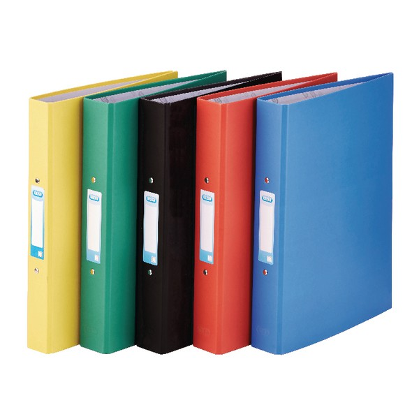 Elba 2 Ring Binders A4+ Coloured Paper On Board Assorted