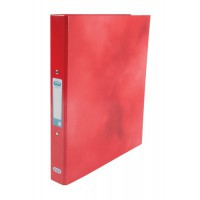 Image for Elba Ring Binder Laminated Gloss Finish 2 O-Ring 25mm Size A4 Red Ref 400017755