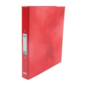 Elba Ring Binder Laminated Gloss Finish 2 O-Ring 25mm Size A4 Red Ref 400017755