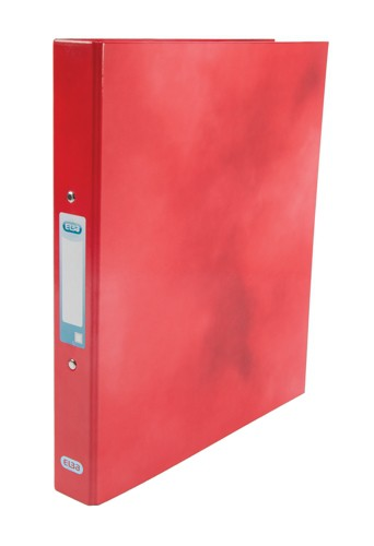 Elba Classy Ring Binder A4 2 O Ring 25mm Laminated Red