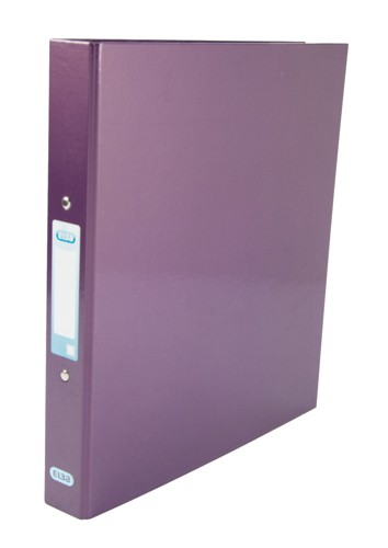 Elba Ring Binder Laminated Gloss Finish 2 O-Ring 25mm Size A4 Metallic Purple Ref 400017758