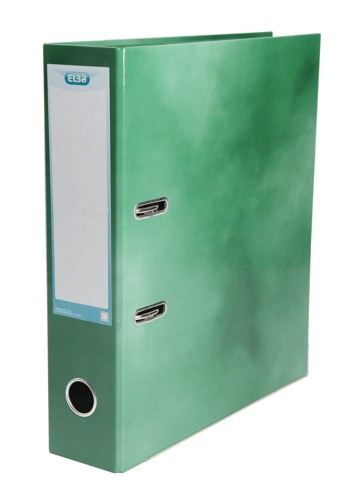 Elba Lever Arch File Laminated Gloss Finish 70mm Capacity A4 Green Ref 400021005