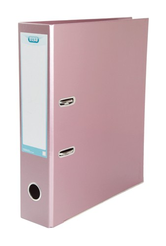 Elba Lever Arch File Laminated Gloss Finish 70mm Capacity A4 Metallic Pink Ref 400021008