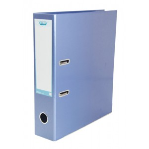 Elba Classy Lever Arch File A4 Laminated Paper On Board Metallic Blue