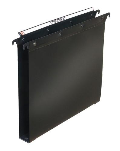 Elba Foolscap Suspension File Foolscap 30mm Capacity Black Pack 25