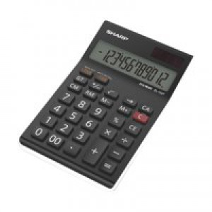 Sharp EL124TWH D/Top Calculator