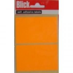 Blick Label Orange Fluor Bag 50x80 Pk160